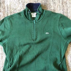 Men's Lacoste regular fit half zip sweater